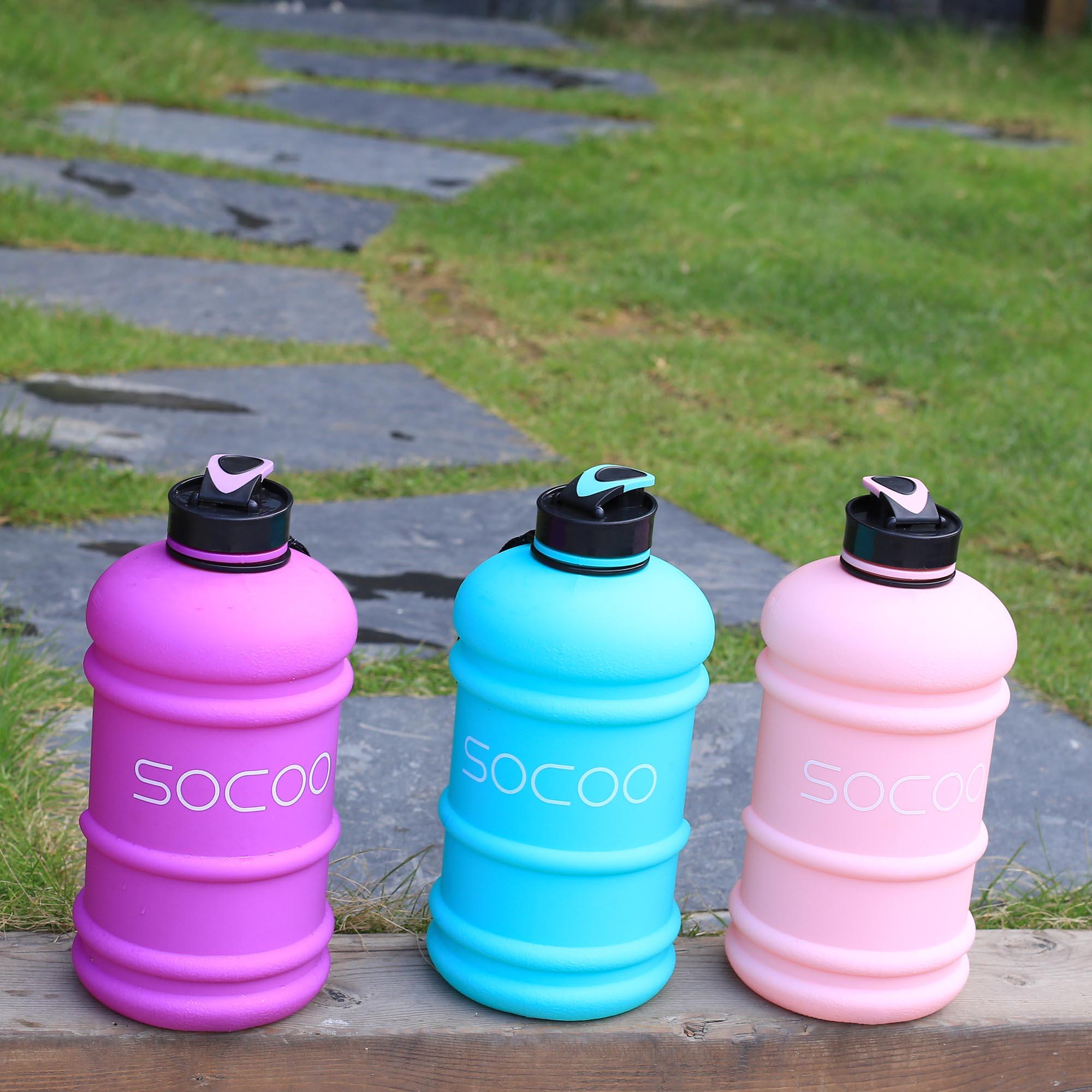 Socoo Large Water Bottle Lightweight Leak Proof Outdoor
