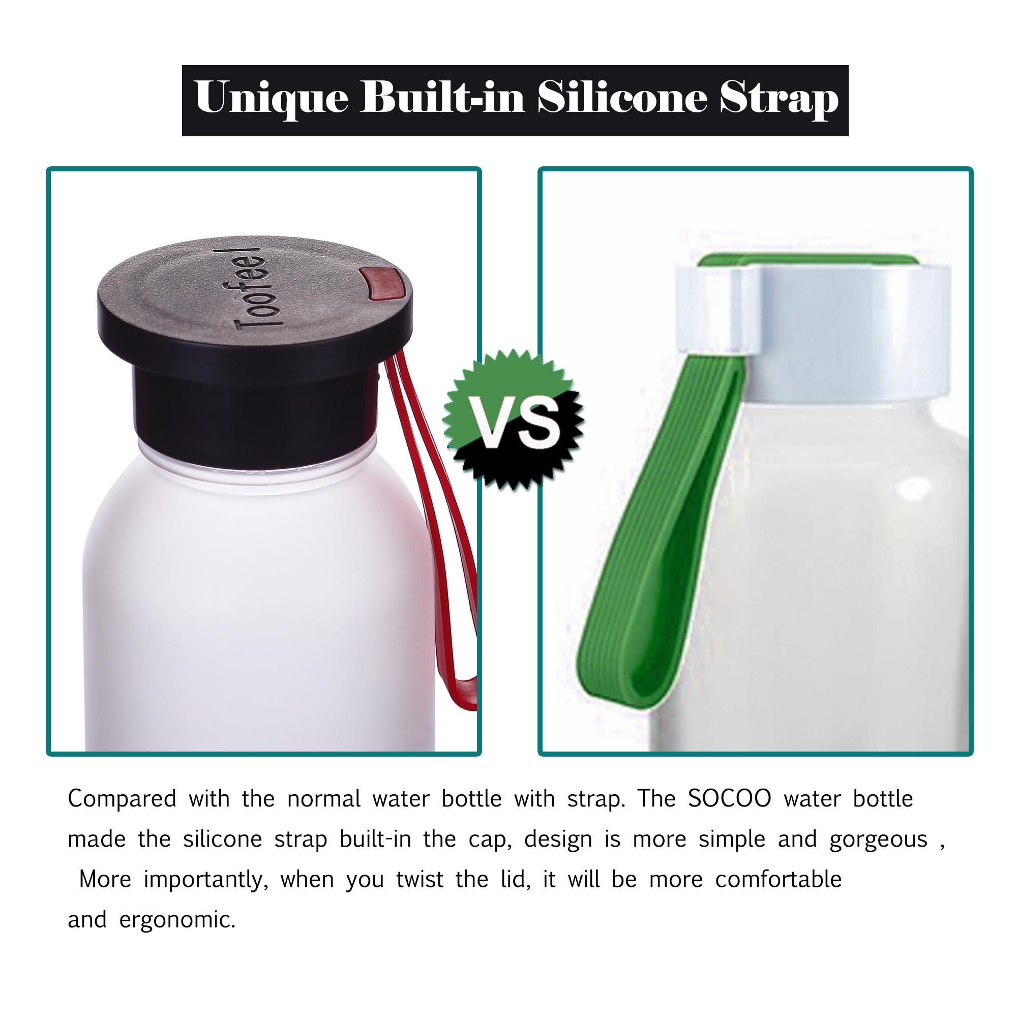 Water Bottle Dishwasher Safe: SOCOO 16 Oz Water Bottle With Handle Dishwasher Safe